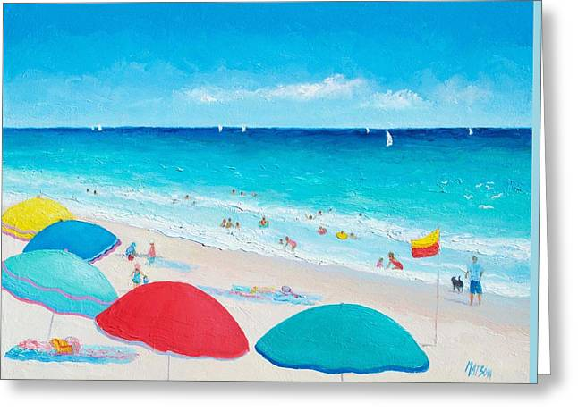 Children At Beach Greeting Cards - The weather is sweet Greeting Card by Jan Matson