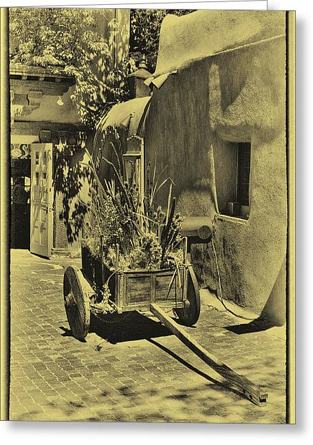 David Patterson Greeting Cards - The Wooden Cart Greeting Card by David Patterson