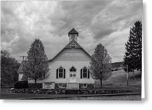 Woodrow Greeting Cards - The Woodrow Union Church In Paw Paw West Virginia Greeting Card by Mountain Dreams