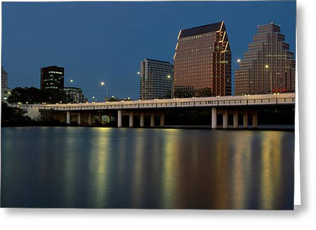 This Is The State Capitol And Skyline Greeting Card by Panoramic Images