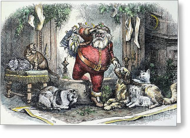 Recently Sold -  - Nast Greeting Cards - Thomas Nast: Santa Claus Greeting Card by Granger