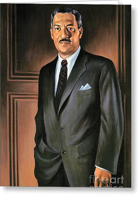 Betsy Greeting Cards - Thurgood Marshall Greeting Card by Granger