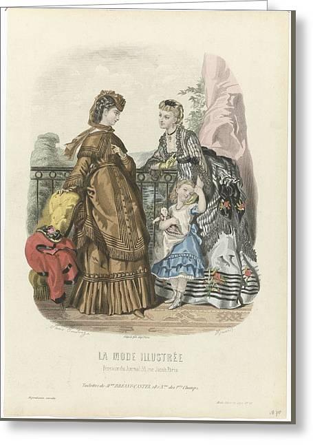 Toilettes De Mme Breant-castel Greeting Card by Celestial Images
