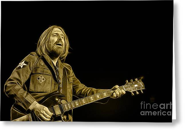 Tom Petty Collection Greeting Card by Marvin Blaine