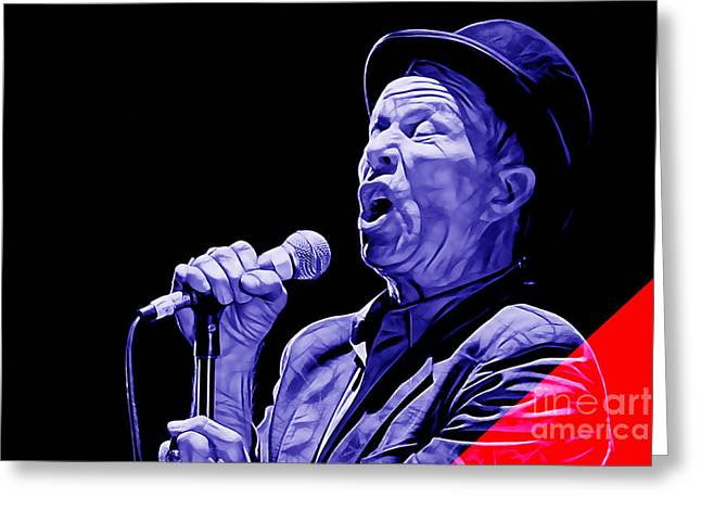 Blues Greeting Cards - Tom Waits Collection Greeting Card by Marvin Blaine