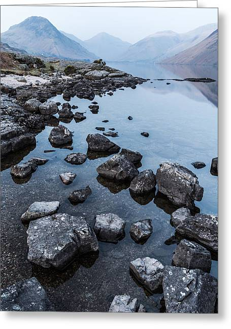 Tranquil Evening At Wast Water In The Lake District Greeting Card by Daniel Kay