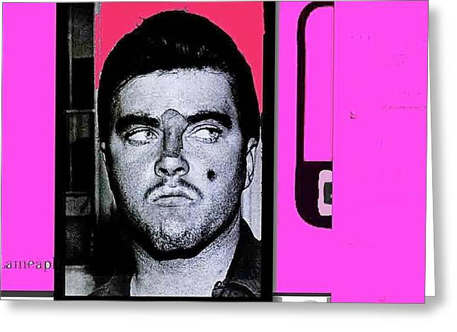 Triple Murderer Charles Schmid In Makeup Tucson Arizona Collage Circa 1966-2013 Greeting Card by David Lee Guss