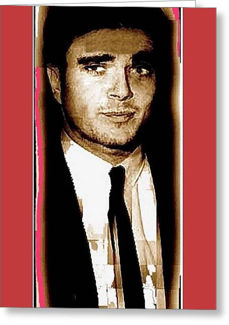 Triple Murderer Charles Schmid Not In Makeup Tucson Arizona Collage Circa 1966-2013 Greeting Card by David Lee Guss