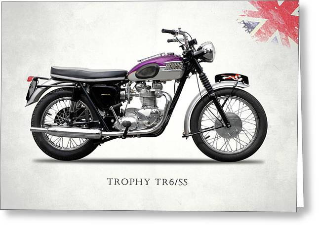 Triumph Trophy Greeting Card by Mark Rogan