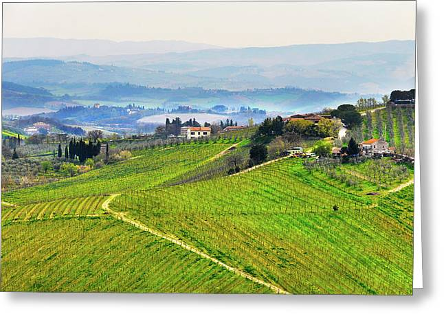 Tuscany Landscape Greeting Card by Dutourdumonde Photography