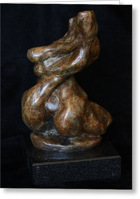 Female Sculptures Greeting Cards - Twist of Fate the Dancer Greeting Card by Dan Earle