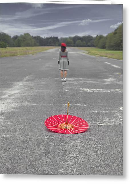 Frock Greeting Cards - Umbrella Greeting Card by Joana Kruse