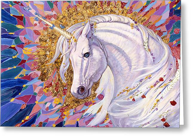 Extinct And Mythical Greeting Cards - Unicorn II Greeting Card by Silvia  Duran