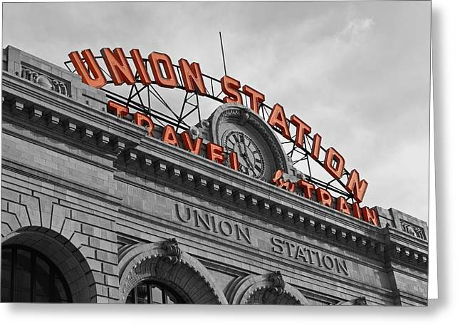 Union Station - Denver  Greeting Card by Mountain Dreams