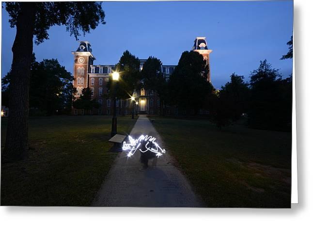 University Of Arkansas Greeting Card by Chris  Look