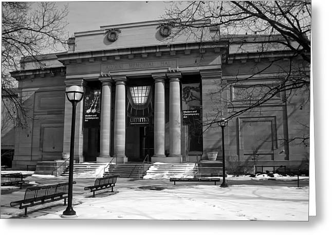 Wintry Greeting Cards - University Of Michigan Museum Of Art Greeting Card by Andrew Horne
