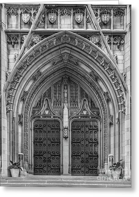 University Of Pittsburgh Heinz Memorial Chapel Greeting Card by University Icons
