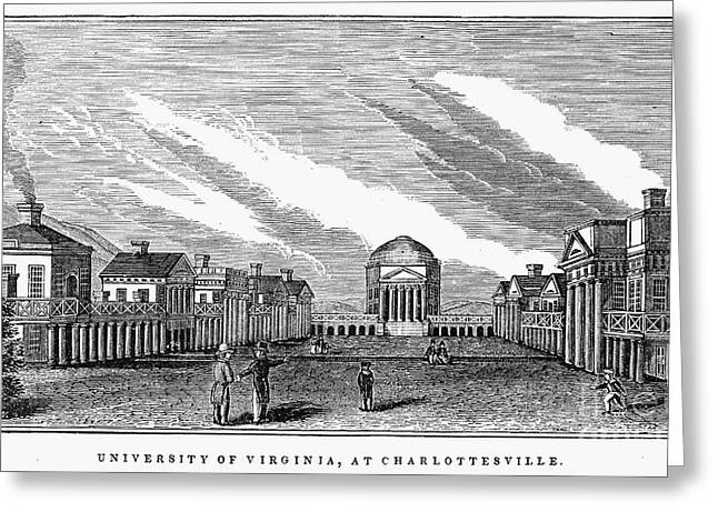 1845 Greeting Cards - University Of Virginia Greeting Card by Granger