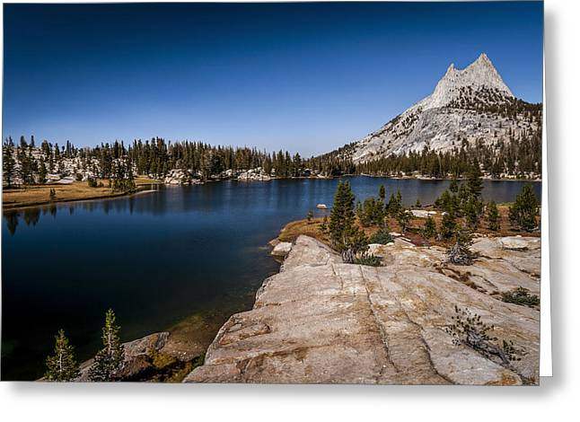 California Adventure Park Greeting Cards - Upper Cathedral Lake Greeting Card by Cat Connor