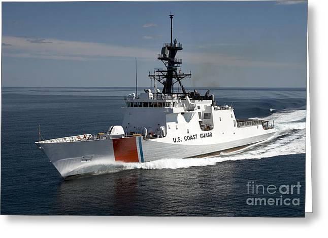 Us Coast Guard Greeting Cards - U.s. Coast Guard Cutter Waesche Greeting Card by Stocktrek Images