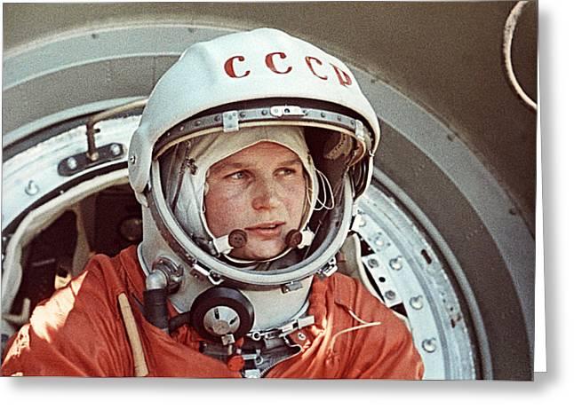 Space Race Greeting Cards - Valentina Tereshkova Greeting Card by Ria Novosti