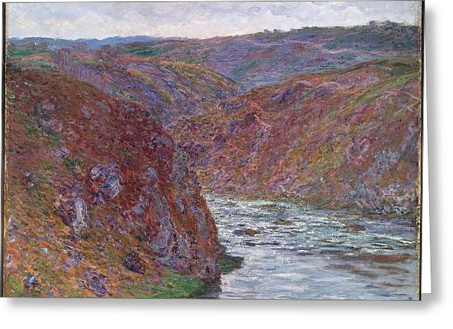 Valley Of The Creuse Greeting Card by Claude Monet