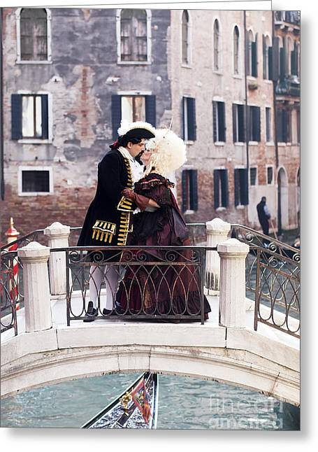 Outfit Greeting Cards - Venetian Carnival Greeting Card by Andre Goncalves