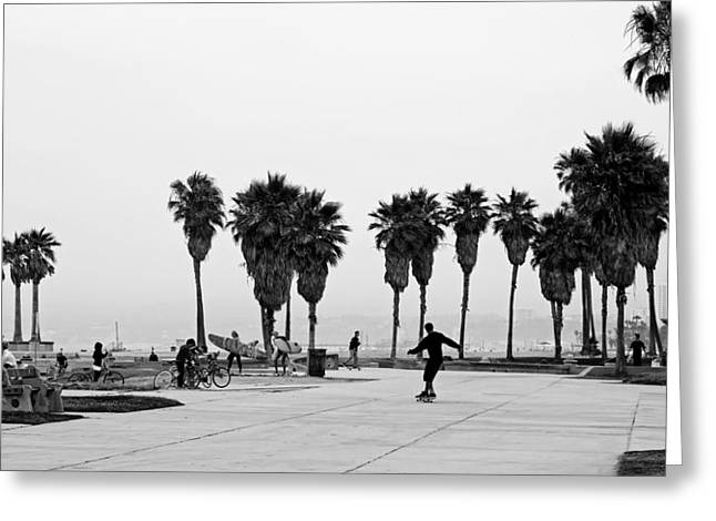 Venice Beach Palms Greeting Cards - Venice Beach California Greeting Card by Mountain Dreams