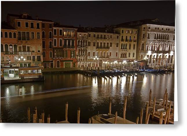 Touristic Greeting Cards - Venice by night Greeting Card by Joana Kruse