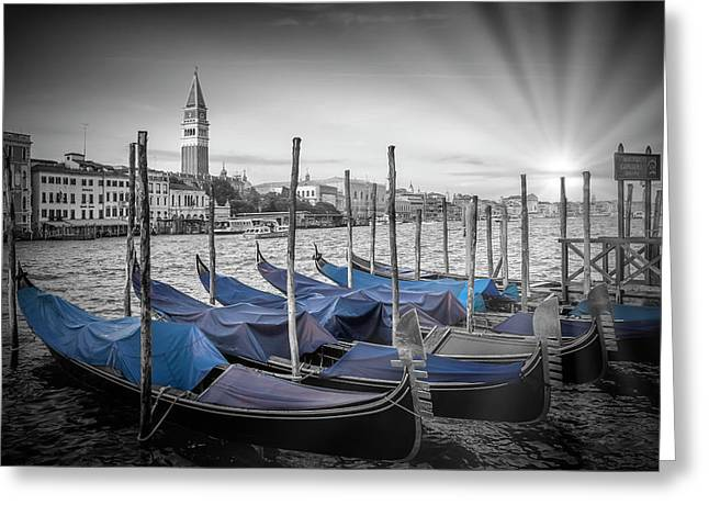 Canale Greeting Cards - VENICE Grand Canal and St Marks Campanile Greeting Card by Melanie Viola