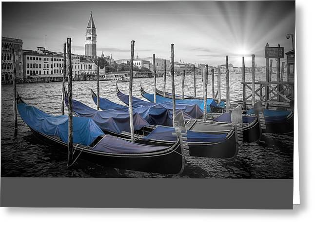Canal Grande Greeting Cards - VENICE Grand Canal and St Marks Campanile Greeting Card by Melanie Viola