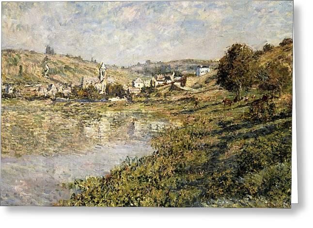 Vetheuil Greeting Cards - Vetheuil Greeting Card by Claude Monet