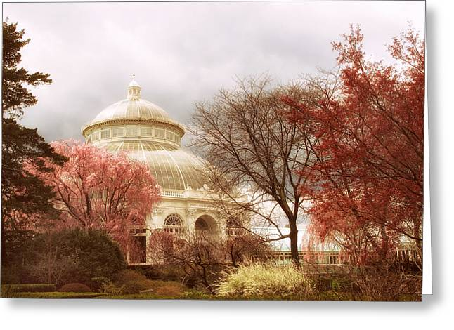Conservatory Greeting Cards - Victorian Garden Greeting Card by Jessica Jenney