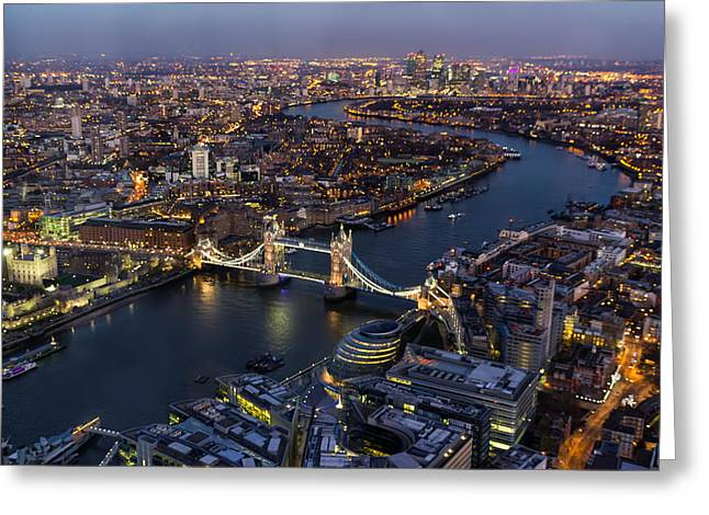 View From The Shard London Greeting Card by Ian Hufton