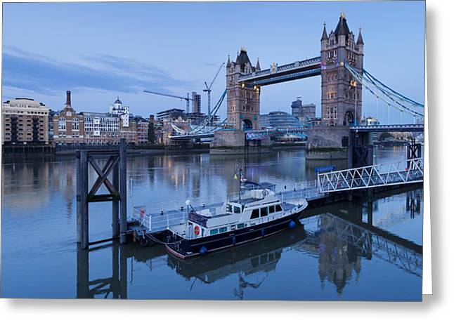 View Of St. Katharine Pier And Tower Greeting Card by Panoramic Images