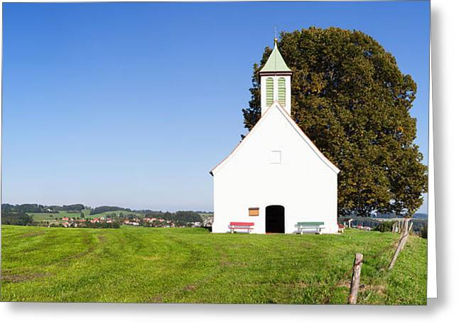 Kreuz Greeting Cards - View Of The Heilig-kreuz-kapelle Greeting Card by Panoramic Images