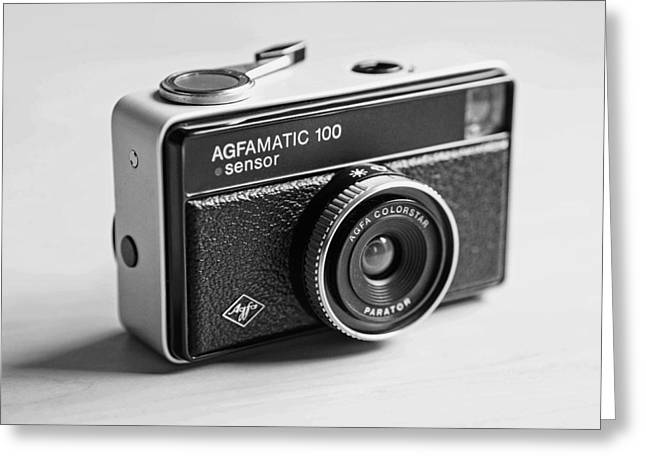 Taking Photographs Greeting Cards - Vintage Agfamatic 100 Greeting Card by Curtis Mac Newton