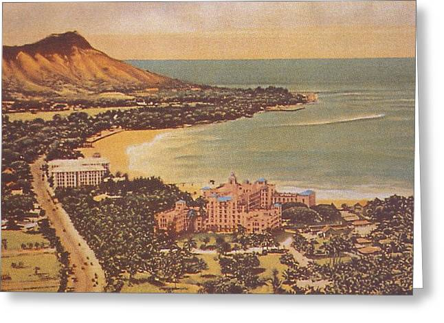 Hawaiian Vintage Art Greeting Cards - Vintage Hawaiian Art Greeting Card by Hawaiian Legacy Archive - Printscapes