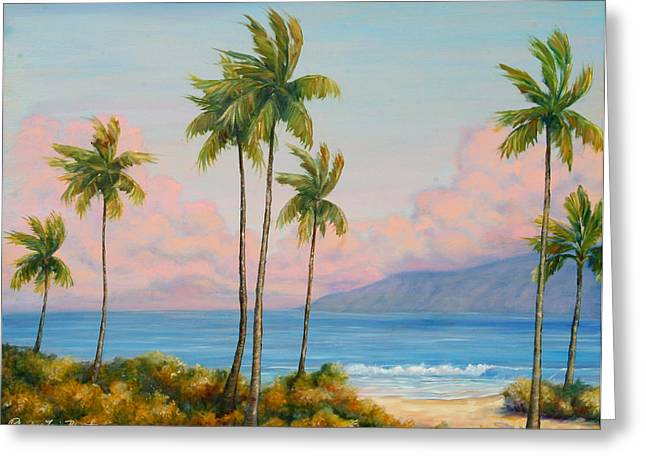 Vintage Kaanapali Greeting Card by Christine Louise Bryant