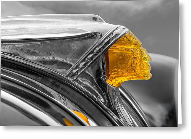 Oxidation Greeting Cards - Vintage Pontiac Hood Ornament Greeting Card by Jim Hughes