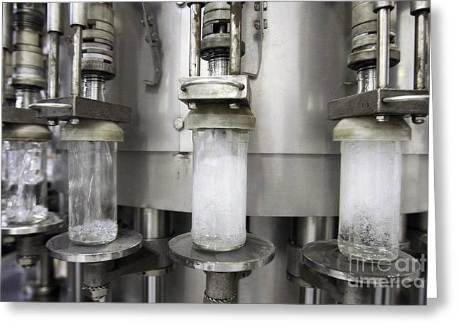 Bottle. Bottling Photographs Greeting Cards - Vodka Factory, Russia Greeting Card by RIA Novosti