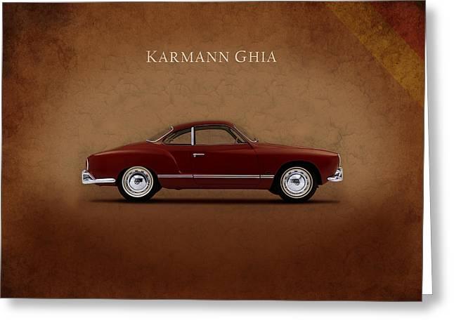 Ghia Greeting Cards - VW Karmann Ghia Greeting Card by Mark Rogan