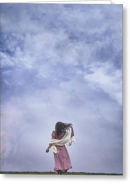 Anonymous Greeting Cards - Walking Into The Sky Greeting Card by Joana Kruse