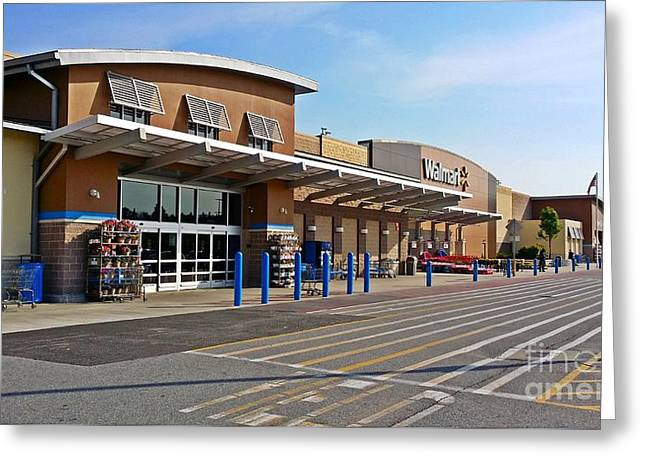 Grocery Store Greeting Cards - Walmart Supercenter Greeting Card by Ben Schumin