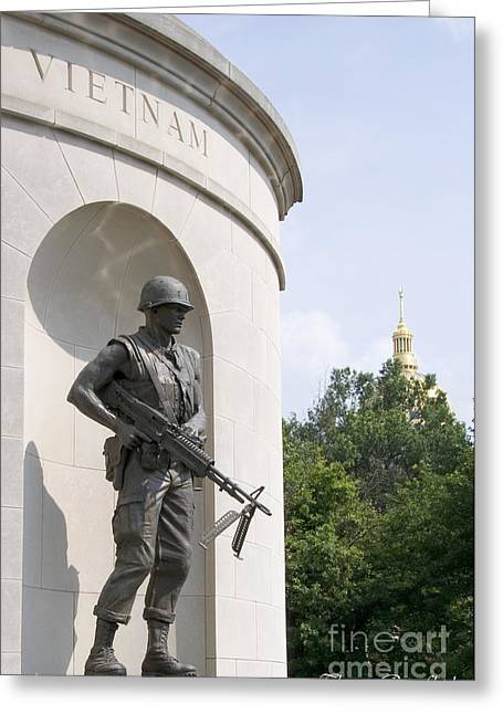 Seat Of Power Greeting Cards - War Memorial Greeting Card by Thomas R Fletcher
