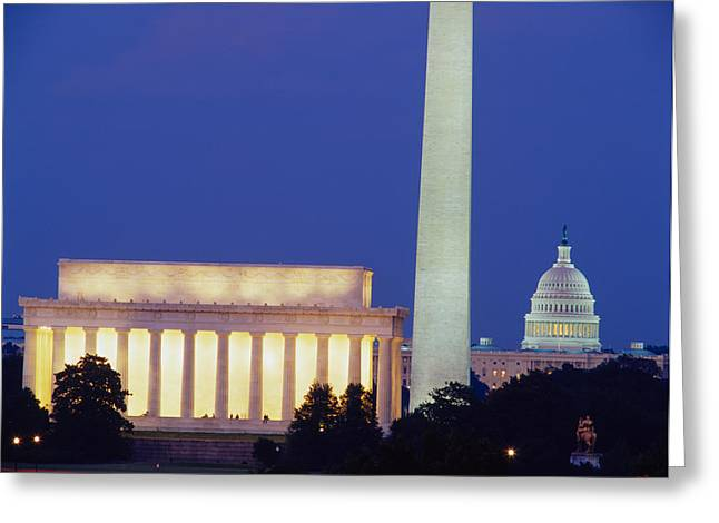 Us Capitol Greeting Cards - Washington Dc Greeting Card by Panoramic Images