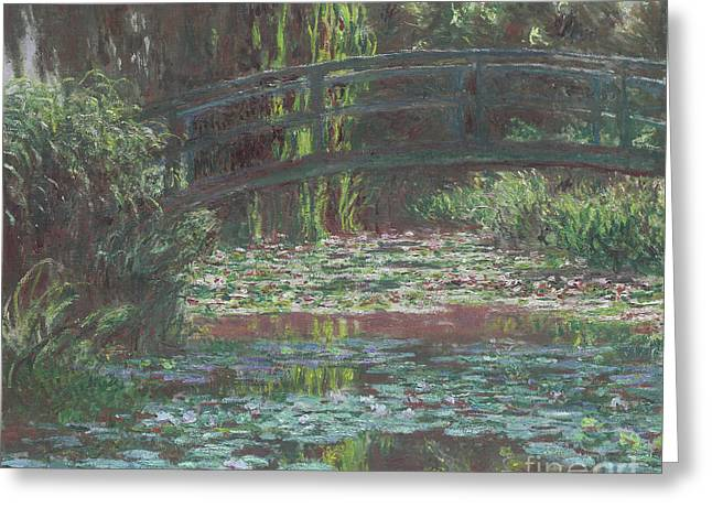 Water Lily Pond Greeting Card by Claude Monet