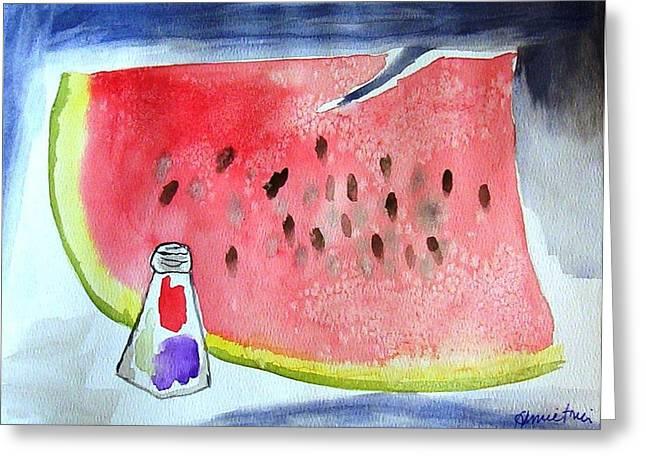 Watermelon Greeting Cards - Watermelon Greeting Card by Jamie Frier