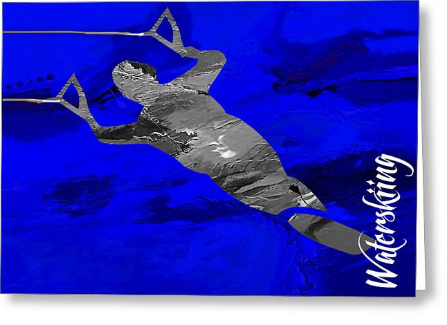 Water Sports Greeting Cards - Waterski Collection Greeting Card by Marvin Blaine