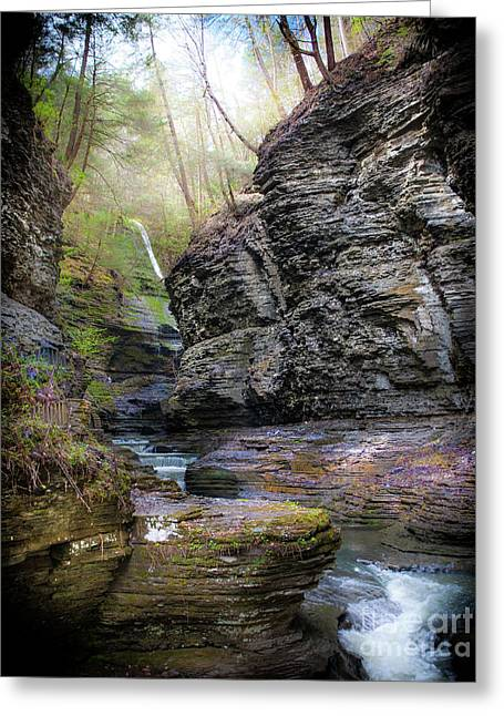 Watkins Glen Greeting Card by Ken Marsh